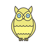 Owl color icon