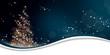 Weihnachten Lichterbaum - Blau