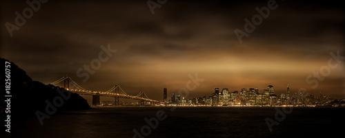 Plexiglas San Francisco San Francisco, USA, Skyline, Nacht