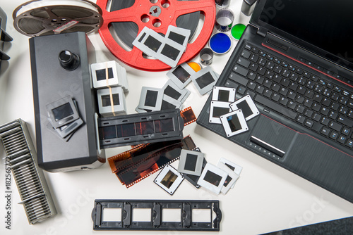 Scan slides and films to transform into digital data