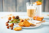 Cappuccino and cookies - 182568381