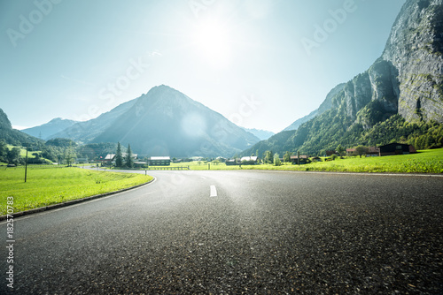 Mountain road, Jungfrau region, Bernese Oberland, Switzerland