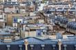 Paris mansard rooftops. 16th Arrondissement of Paris, France