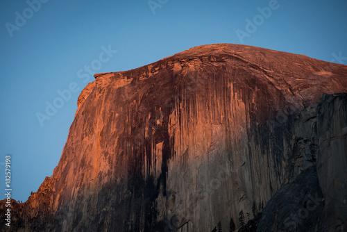 Foto op Canvas Zwart Half-Dome at sunset, Yosemite National park