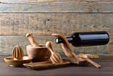 Set of wooden kitchen utensils . - 182581197