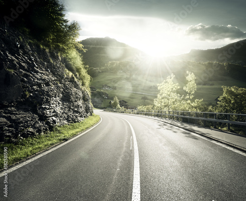 Mountain road, Jungfrau region, Switzerland