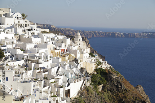 Staande foto Santorini View of the town of Fira in Santorini island, Greece