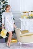 shiny festive dress