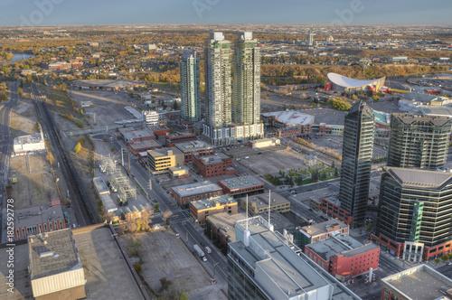 Keuken foto achterwand Canada Aerial view of Calgary, Alberta skyline