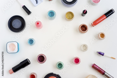 Poster Cosmetics on white background
