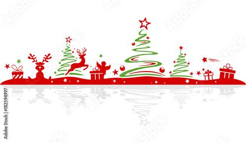 Fototapeta Christmas Silhouette
