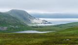 Gulf and beach on the island Soroja, Norway - 182595146