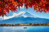Autumn Season and Mountain Fuji at Kawaguchiko lake, Japan. - 182598574