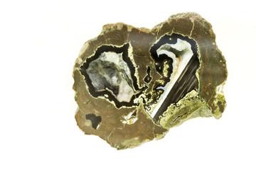 Onyx agate - isolate white background
