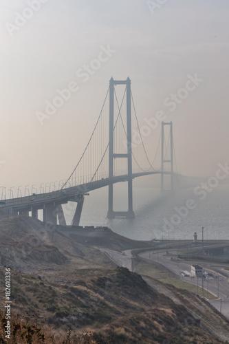Plexiglas San Francisco Osmangazi Bridge Foggy Gebze, Kocaeli, Turkey.