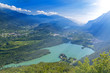 Quadro Trrentino summer landscape. Italy