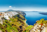 Greece, Santorini panorama. - 182624526