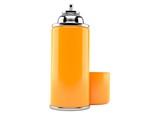 Orange spray can