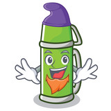 Elf thermos character cartoon style