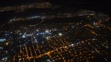 View from an airplane on Istanbul at night, Turkey