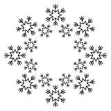christmas snowflake season motif design vector illustration - 182655146