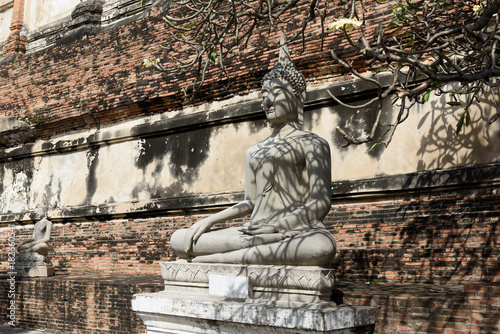 Fotobehang Thailand Buddha statue in Ayutthaya historical province park,Thailand. worship of Thailand