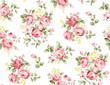 Beautiful rose flower pattern , little floral bouquet vintage for fashion - 182662915