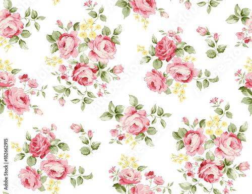 Beautiful rose flower pattern , little floral bouquet vintage for fashion - 182662915