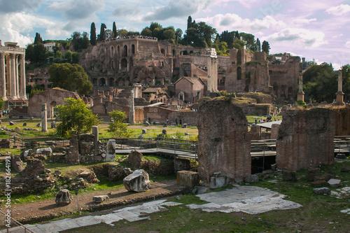 Foto op Canvas Rome Fori Imperiali a Roma, Lazio
