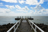 Jetty and clouds - 182668976