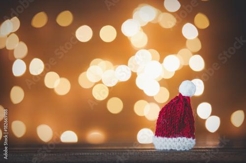 Santa Claus hat and Christmas Lights