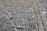 Cobblestones of the Spanish ancient yard - 182676701