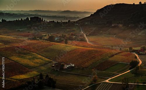 Poster Chocoladebruin Autumn landscape