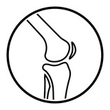joint knee icon on white background - 182679129