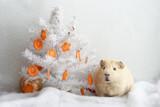 Новогодняя открытка с морской свинкой - 182680300