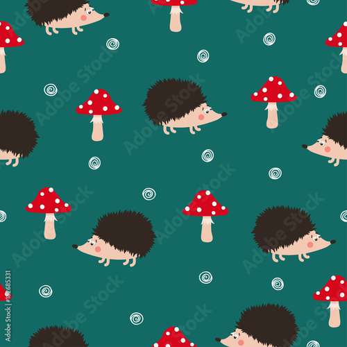 seamless-vector-pattern-with-cute-hedgehogs-and-mushrooms