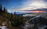 Fototapeta Sawanna -  Zachód Słońca na Narożniku, w tle Sawanna Łężycka  © Piotr Zagził