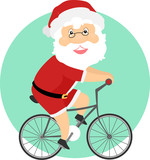 Santa Biking Illustration - 182692306