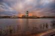 Sunset over Finnish gulf