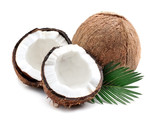 Coconuts with leaves. - 182703333