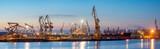 Szczecin, Poland-November 2017: Shipyard in Szczecin, panorama - 182703917