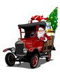 Cartoon retro Christmas truck - 182705116