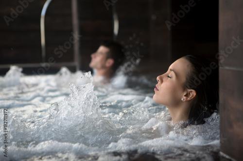 Fotobehang Spa Couple relaxing in spa