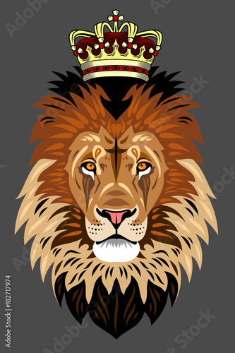 Portrait of a Lion in the Crown