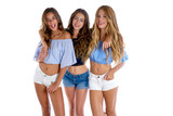 Thee teen best friends girls happy together - 182720761