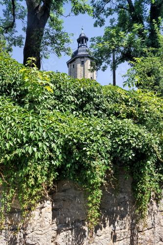 Tuinposter Baksteen muur Jena, Stadtidylle