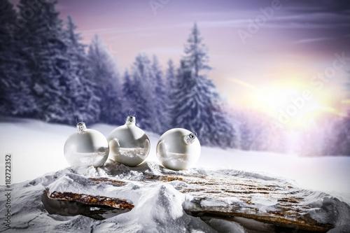 Fotobehang Purper christmas background
