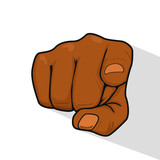 Hand of african american man pointing index finger at you - 182725150