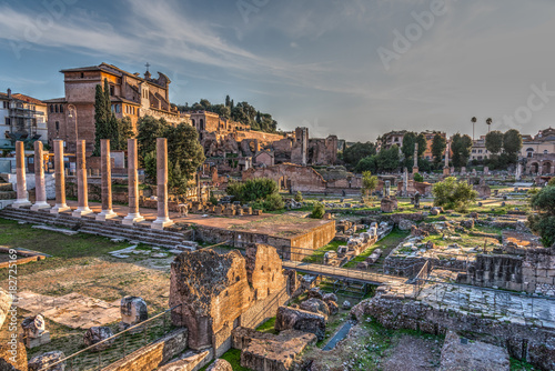 Foto op Canvas Rome World famous Imperial Fora in Rome