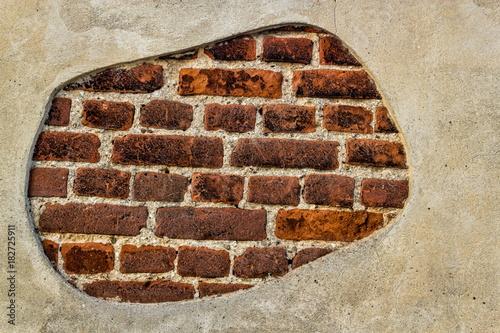 Deurstickers Baksteen muur Ziegelsteinmauer